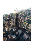 Willis Tower Chicago Aloft Photographic Print by Steve Gadomski