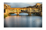 Golden Light On Ponte Vecchio Photographic Print by George Oze