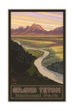Snake River Overlook Grand Teton Pal 057 Photographic Print by Paul A Lanquist