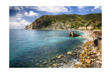 Liguria Coastline At Monterosso Al Mare, Italy Photographic Print by George Oze
