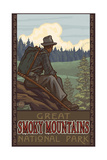 Hiking in the Great Smoky Mountains National Park Poster by Paul A Lanquist