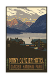 Many Glacier Hotel Photographic Print by Paul A Lanquist