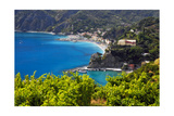 Coastal View at Monterosso, Cinque Terre, Italy Photographic Print by George Oze