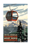 Crystal Mountain Gondola Summer Mount Rainier Photographic Print by Paul A Lanquist