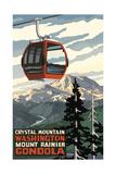 Crystal Mountain Gondola Summer Mount Rainier Prints by Paul A Lanquist