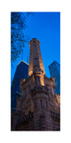 Chicago Water Tower Panorama Photographic Print by Steve Gadomski