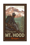 Hiking on Mount Hood Oregon Pal 20 Photographic Print by Paul A Lanquist