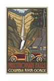 Multnomah Falls with Car Pal 24 Photographic Print by Paul A Lanquist