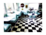 Classic American Diner Interior Photographic Print by George Oze