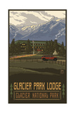 Glacier Park Lodge Photographic Print by Paul A Lanquist