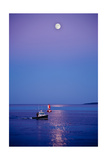 Ocean Moonrise Photographic Print by Steve Gadomski