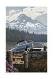 Mount Hood Lost Lake Chevy Pal 1327 Photographic Print by Paul A Lanquist