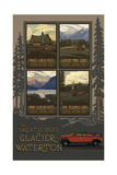 Glacier National Park Historic Lodges Collage Photographic Print by Paul A Lanquist