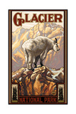 Glacier National Park Mountain Goat Pal 453 Photographic Print by Paul A Lanquist