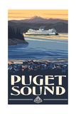 Puget Sound Ferry Washington Pal 420 Fotodruck von Paul A Lanquist
