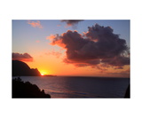 Sunset Over Hanalei Bay Photographic Print by Ronald A Dahlquist