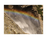 Rainbow At The Top Of Upper Yosemite Fall Photographic Print by Ronald A Dahlquist