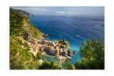 Ligurian Coast View At Vernazza, Italy Photographic Print by George Oze