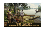 Fort Clatsop Winter Encampment Photographic Print by Paul A Lanquist