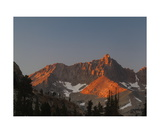 Alpenglow On Black Kaweah From Little Five Lakes Photographic Print by Ronald A Dahlquist