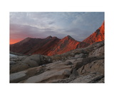 Alpenglow On The Great Western Divide Photographic Print by Ronald A Dahlquist
