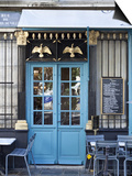 Blue Doors of Cafe, Marais District, Paris, France Print by Jon Arnold