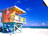 Life Guard Station, South Beach, Miami, Florida, USA Art by Terry Eggers