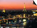 Eiffel Tower and River Seine, Paris, France Prints by Walter Bibikow