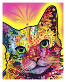 Tilt Cat Print by Dean Russo