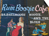 Rum Boogie Cafe, Wall Mural, Beale Street Entertainment Area, Memphis, Tennessee, USA Prints by Walter Bibikow