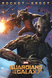 Guardians Of The Galaxy - Rocket & Groot Plakater