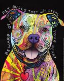 Beware of Pit Bulls Poster von Dean Russo