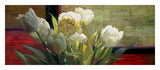 Tulips with Red Prints by Jan McLaughlin