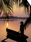 Evening View on the Mekong River, Mekong Delta, Vietnam Prints by Keren Su