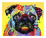 Pug Posters by Dean Russo