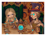Alice and the Mad Hatter Print by Jasmine Becket-Griffith