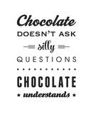 Chocolate Print by Amalia Lopez
