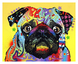 Pug Art by Dean Russo