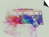 VW Bus Watercolor Print by  NaxArt
