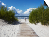 Boardwalk Leading to Beach, Liepaja, Latvia Print by Ian Trower