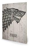 Game of Thrones - Stark Wood Sign Panneau en bois