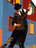 Tango Dancers on Calle Caminito, La Boca District, Buenos Aires, Argentina Prints by Sergio Pitamitz