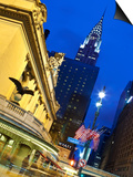 New York City, Manhattan, Grand Central Station and the Chrysler Building Illuminated at Dusk, USA Prints by Gavin Hellier