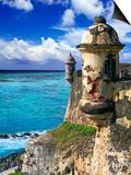 Watchtower, Fort San Felipe Del Morro, San Juan, Puerto Rico, USA, Caribbean Posters by Miva Stock
