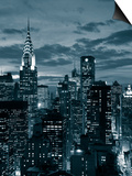Chrysler Building and Midtown Manhattan Skyline, New York City, USA Posters by Jon Arnold