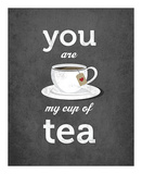 You Are My Cup of Tea (grey) Prints by Amalia Lopez