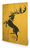 Game of Thrones - Baratheon Wood Sign Panneau en bois