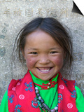 Young Tibetan Girl, Sakya Monastery, Tibet, China Posters by Keren Su