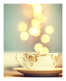 Tea Cup in Cold Bokeh Prints by Amelia Kay