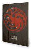 Game of Thrones - Targaryen Znak drewniany